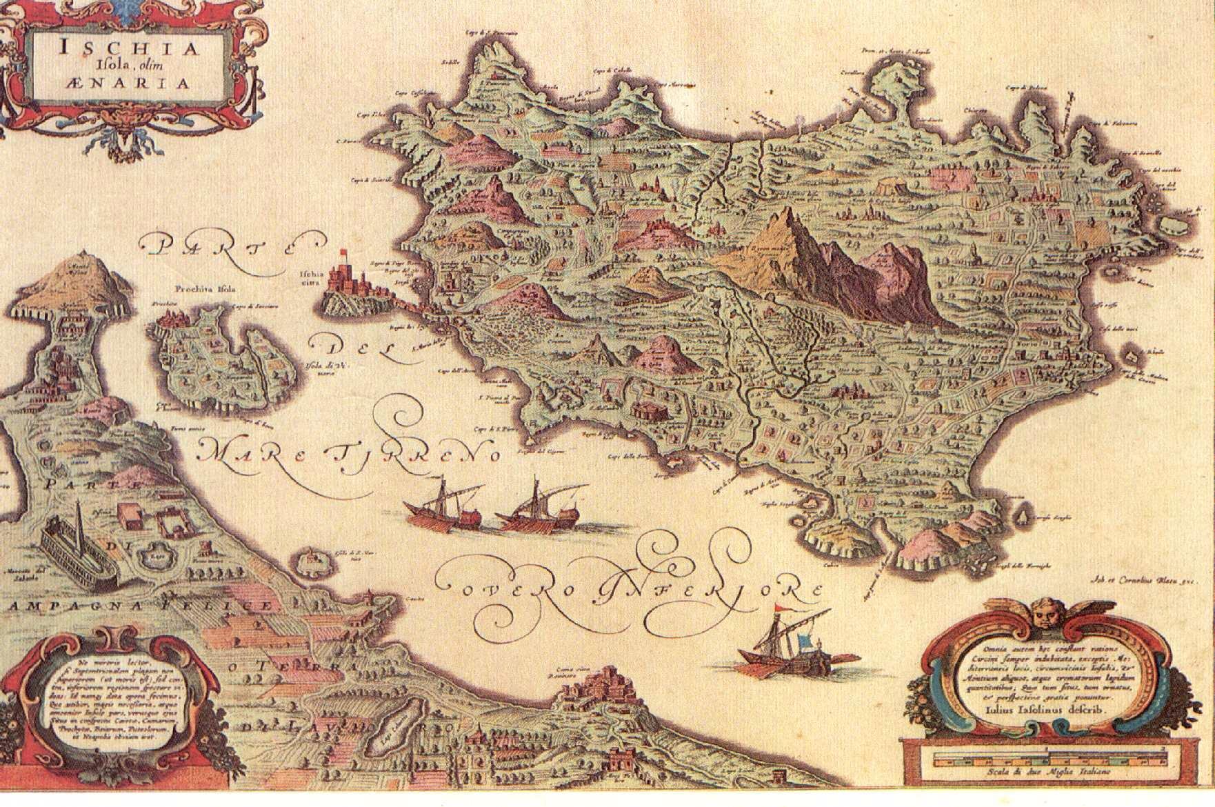 Antica Cartina dell'Isola d'Ischia