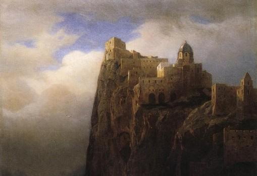 Coastal Cliffs, il Castello Aragonese visto da William Stanley Haseltine